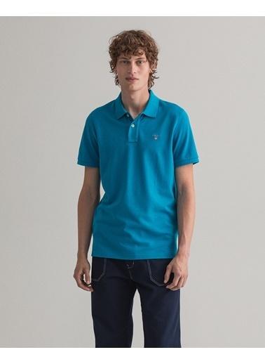 Gant Erkek Kısa Kollu Regular Fit Polo Mavi